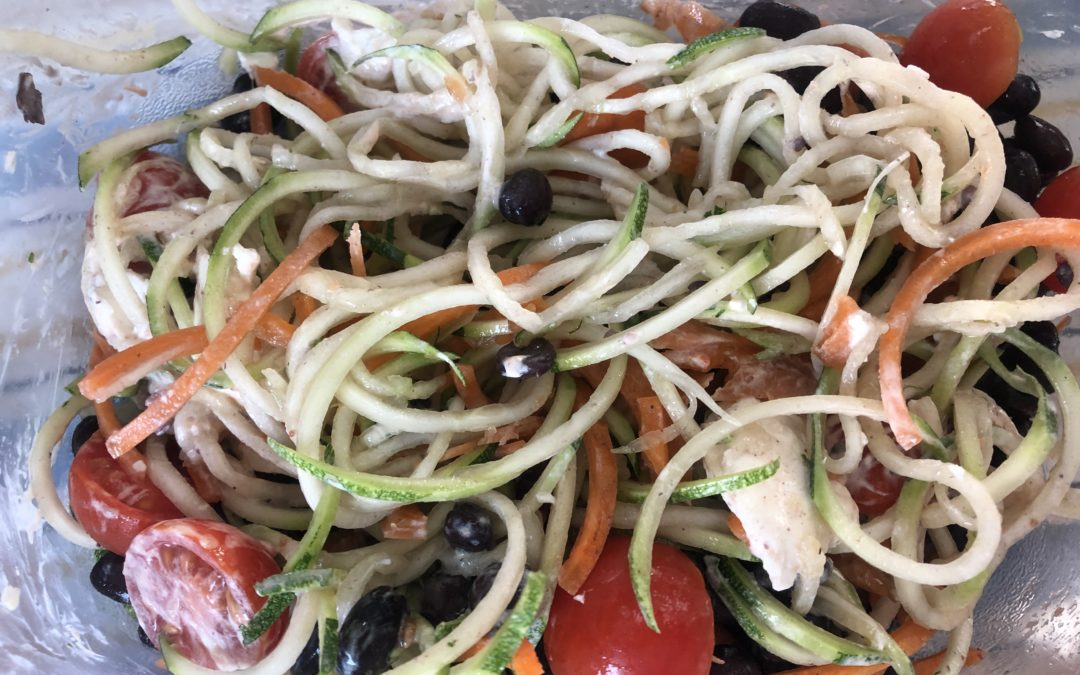 Southwestern Zoodle Salad with Chipotle-Lime Dressing – Recipe 98