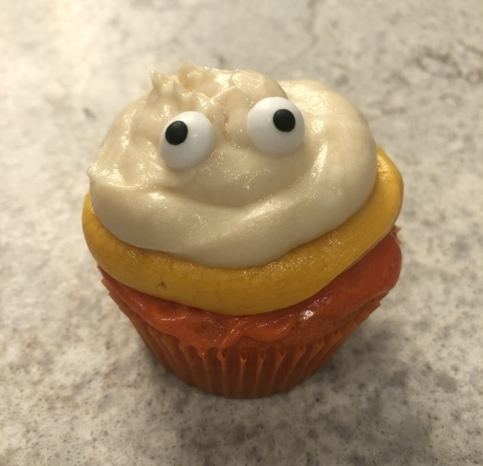 Candy Corn Ghost Cupcakes – Recipe 280