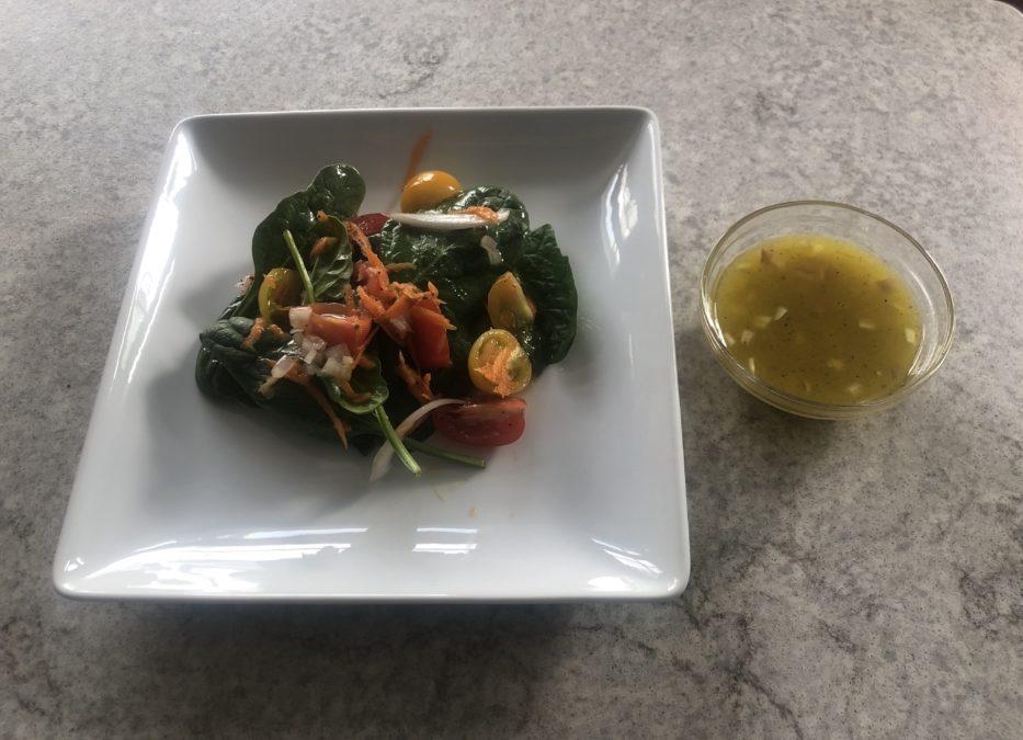 Simple Green Salad with Lemon Vinegrette – Recipe 26